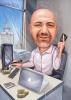 Карикатура за мъж счетоводител