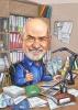 Карикатура за мъж в офис