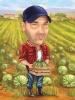 Карикатура за мъж земеделец