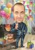 Карикатура за рожден ден на мъж