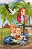 Карикатура за семейство супергерои