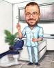 Карикатура за стоматолог