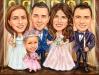 Карикатура за сватба с кумове