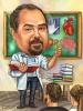 Карикатура за учител по биология