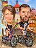 Карикатура за велосипедисти пътешественици
