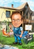 Карикатура за водопроводчик и рибар