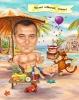 Карикатура за юбилей на плаж