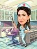 Карикатура за жена гинеколог