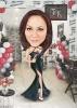 Карикатура за жена козметик с балони