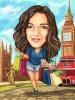 Карикатура за жена Лондон