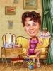 Карикатура за жена на 50 години