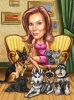 Карикатура за жена с домашни любимци