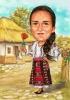 Карикатура за жена с народни мотиви