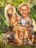 Карикатура за жена с животни