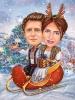 Коледна карикатура с народни мотиви