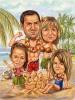Семейна карикатура 10 години заедно