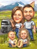 Семейна карикатура 30 години юбилей