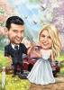 Сватбена карикатура автомонтьор