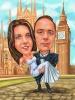Сватбена карикатура на Биг Бен
