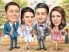 Сватбена карикатура с кумове