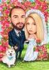 Сватбена карикатура с животни