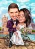 Уникална карикатура за сватба Париж